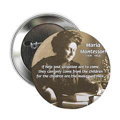 Maria Montessori Education Button
