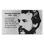 Alexander Graham Bell Rectangle Sticker