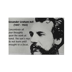Alexander Graham Bell Rectangle Magnet
