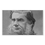 Thomas Huxley and Darwin Rectangle Sticker