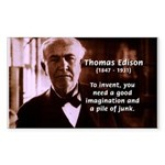 Imagination Thomas Edison Rectangle Sticker