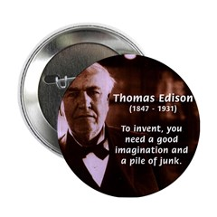 Imagination Thomas Edison Button