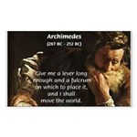Greek Mathematician: Archimedes Sticker (Rectangul