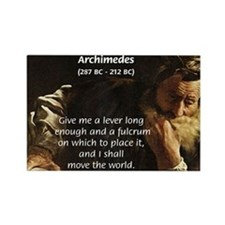 Greek Mathematician: Archimedes Rectangle Magnet