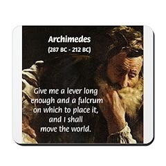 Greek Mathematician: Archimedes Mousepad