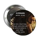 Greek Mathematician: Archimedes Button
