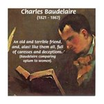 French Poets Baudelaire Tile Coaster