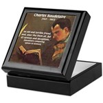French Poets Baudelaire Keepsake Box