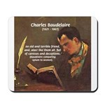French Poets Baudelaire Mousepad