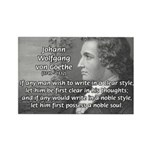 Poet Johann von Goethe Rectangle Magnet