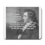 Poet Johann von Goethe Mousepad