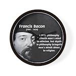 Philosopher Francis Bacon Wall Clock