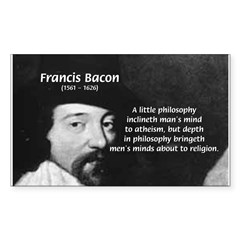 Philosopher Francis Bacon Rectangle Decal