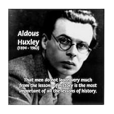 History Aldous Huxley Tile Coaster
