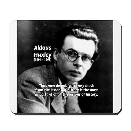History Aldous Huxley Mousepad
