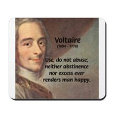 French Philosopher: Voltaire Mousepad