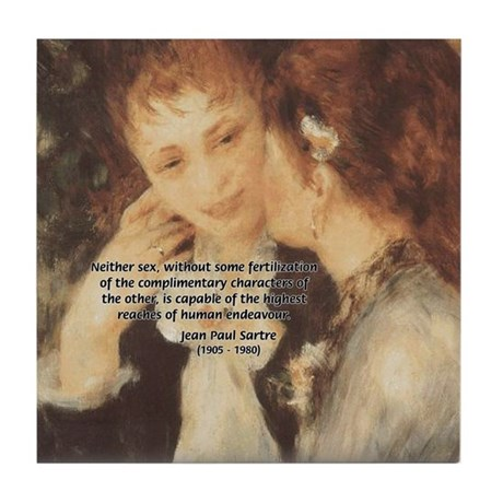 Impressionist Renoir Tile Coaster