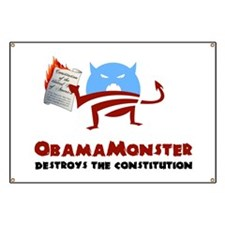 Destroys the Constitution Banner