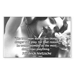 Desire for Women Neitzsche Rectangle Sticker