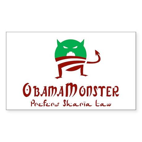 Obama Monster Sharia Rectangle Sticker