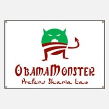 Obama Monster Sharia Banner