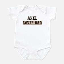 Axel loves dad Infant Bodysuit