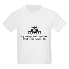Daddy Flies Apaches T-Shirt