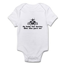 Daddy Flies Apaches Infant Bodysuit