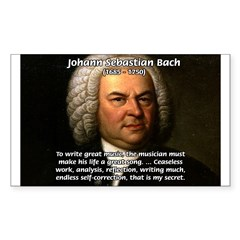 Composer J.S. Bach Rectangle Decal