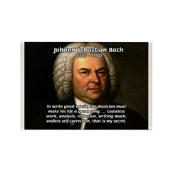 Composer J.S. Bach Rectangle Magnet