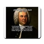 Composer J.S. Bach Mousepad
