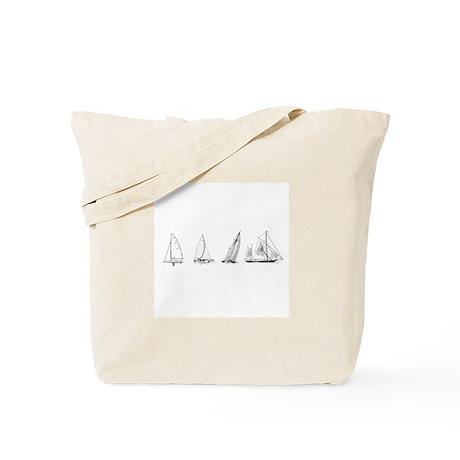4 Sailboats (untitled) Tote Bag