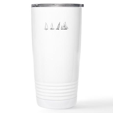 4 Sailboats (untitled) Stainless Steel Travel Mug