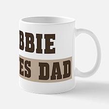 Abbie loves dad Small Small Mug