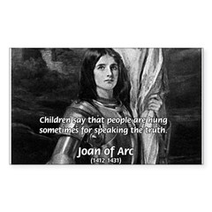 Heroine / Saint Joan of Arc Rectangle Decal