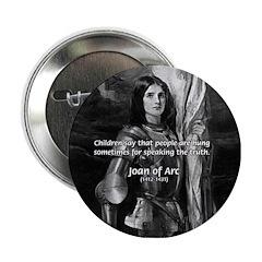 Heroine / Saint Joan of Arc Button