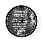Suffragist Emmeline Pankhurst Wall Clock