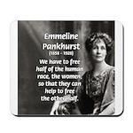 Suffragist Emmeline Pankhurst Mousepad