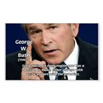 Terrorism George W. Bush Rectangle Sticker
