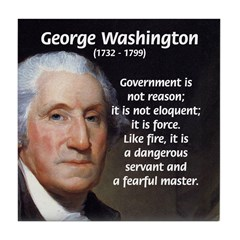 Politics: George Washington Tile Coaster
