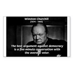 Sir Winston Churchill Rectangle Sticker
