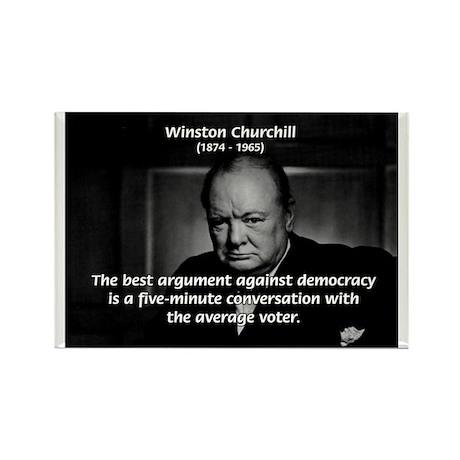 Sir Winston Churchill Rectangle Magnet