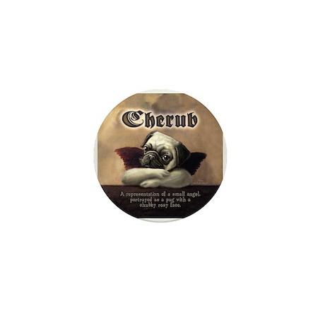 Angelic Pug Cherubs Mini Button (10 pack)