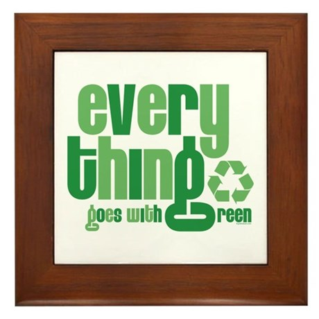 Everything Green Framed Tile