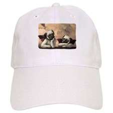 Pug Angels No Slogan Baseball Cap