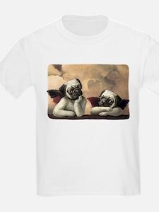 Pug Angels No Slogan T-Shirt