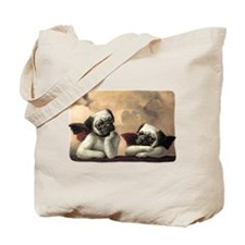 Pug Angels No Slogan Tote Bag