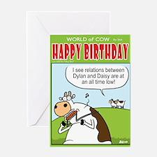 Bob Dylan Bust Up! Greeting Card