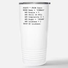 SQL Stainless Steel Travel Mug