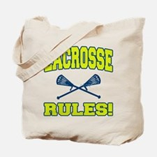Lacrosse Rules Tote Bag